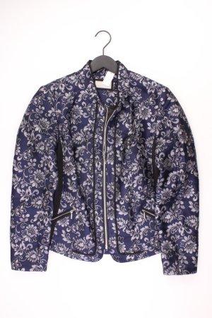 Canbanjacke Größe 42 mit Blumenmuster blau aus Polyester