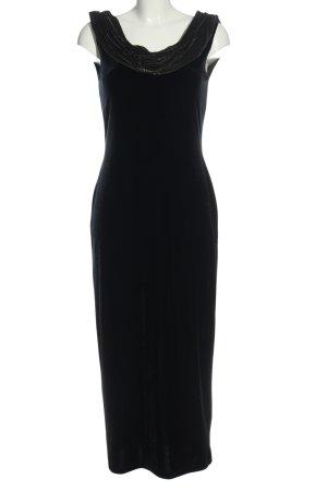 Canda Abendkleid schwarz-goldfarben Allover-Druck Elegant