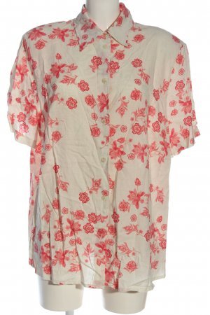 Canda Blouse Jacket cream-red flower pattern casual look