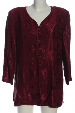 Canda Blouse Jacket red allover print casual look