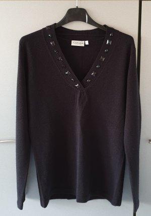 CANDA C&A Pullover V-Ausschnitt schwarz S Neu, ungetragen