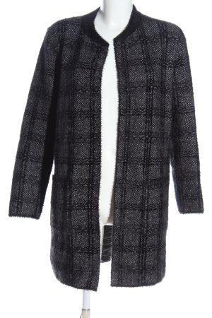 Canda Cardigan grigio chiaro-nero motivo a quadri stile casual