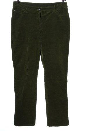 Canda Pantalone di velluto a coste verde stile casual