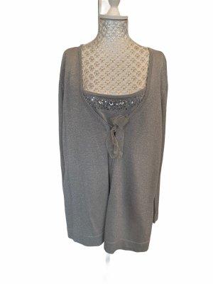 Canda Top koszulowy szary-srebrny