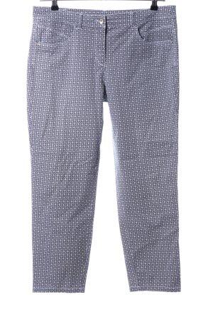 Canda Pantalone cinque tasche grigio chiaro-bianco stampa integrale stile casual