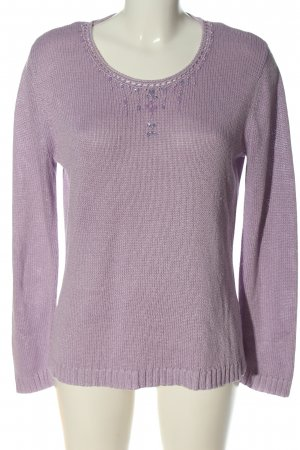 Canda Jersey de ganchillo lila punto trenzado look casual