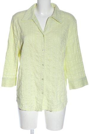 Canda Hemd-Bluse blassgelb Casual-Look