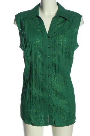 Canda Koszulowa bluzka brązowy-zielony Abstrakcyjny wzór W stylu casual