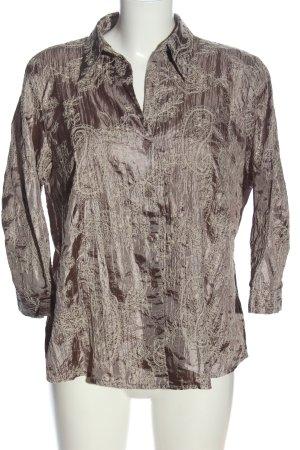 Canda Koszulowa bluzka brązowy-jasnoszary Na całej powierzchni W stylu casual