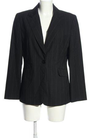 Canda Jerseyblazer schwarz-weiß Allover-Druck Business-Look