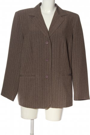 Canda Short Blazer brown striped pattern business style