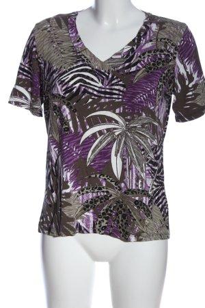 Canda V-hals shirt volledige print casual uitstraling