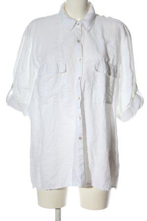 Canda Shirt met korte mouwen wit casual uitstraling