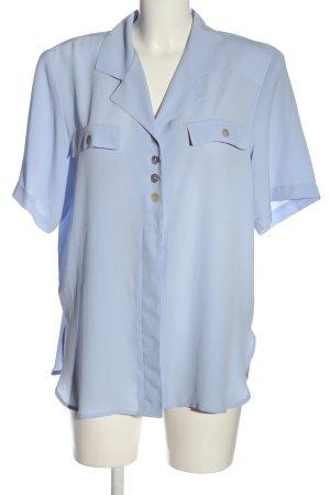 Canda Koszula z krótkim rękawem niebieski W stylu biznesowym