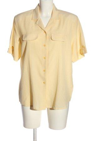 Canda Koszula z krótkim rękawem bladożółty Na całej powierzchni