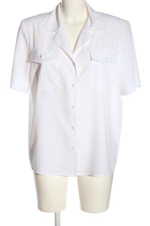 Canda Koszula z krótkim rękawem biały W stylu biznesowym