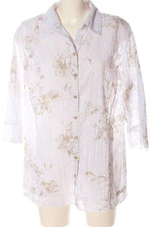 Canda Camicia a maniche corte bianco-crema stampa integrale effetto bagnato