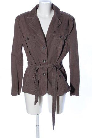 Canda Veste courte brun style d'affaires