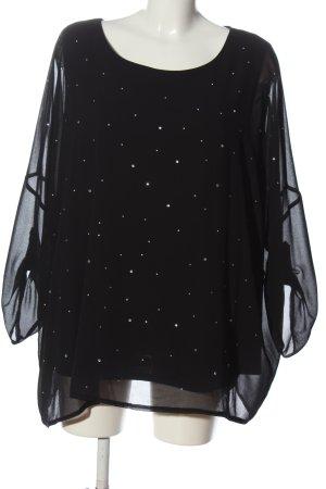 Canda Langarm-Bluse schwarz Elegant