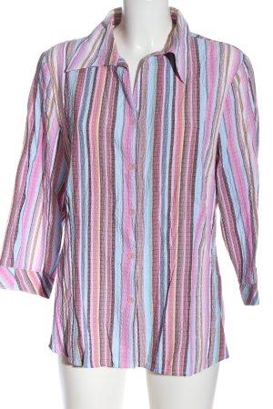 Canda Camicia a maniche lunghe rosa-blu stampa integrale stile professionale