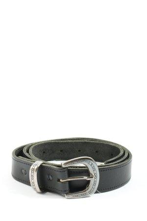 Canda Cinturón de cuero negro look casual