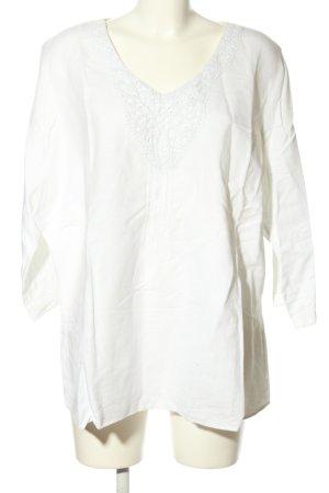 Canda Blouse en lin blanc style décontracté