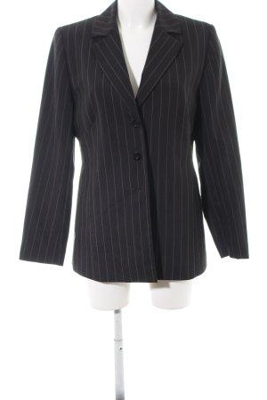 Canda Long-Blazer schwarz-weiß Streifenmuster Business-Look
