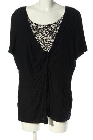Canda Longshirt schwarz abstraktes Muster Casual-Look