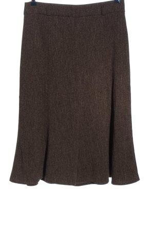 Canda Spódnica midi brązowy Melanżowy W stylu casual
