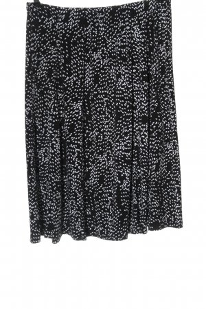 Canda Spódnica midi czarny-biały Na całej powierzchni W stylu casual