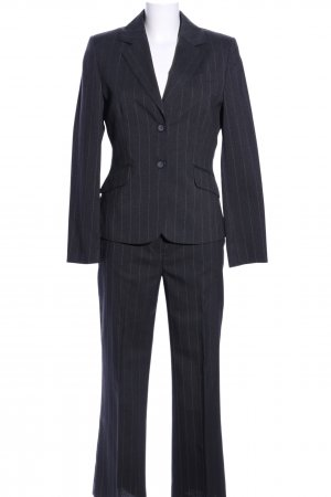 Canda Pinstripe Suit black striped pattern business style