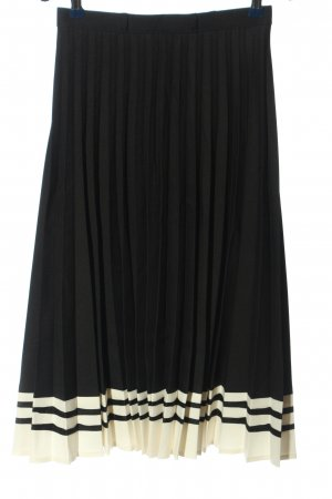 Canda Pleated Skirt black-white striped pattern casual look