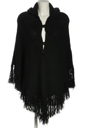 Canda Poncho black casual look