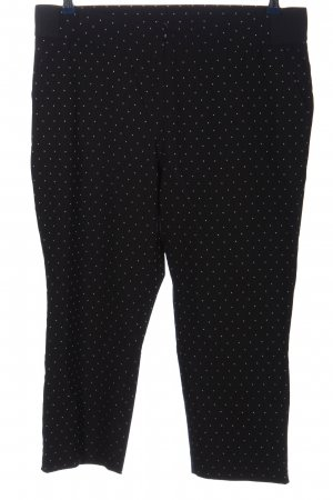 Canda Premium Pantalon 7/8 noir-blanc motif de tache style décontracté