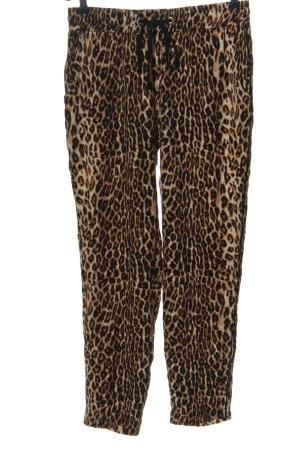 Canda Premium Luźne spodnie brązowy Na całej powierzchni Ekstrawagancki styl