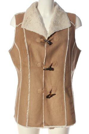 Canda Premium Fur vest nude-natural white casual look