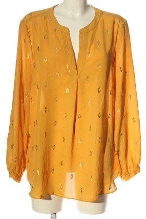 Canda Premium Blouse-chemisier orange clair-doré motif abstrait élégant