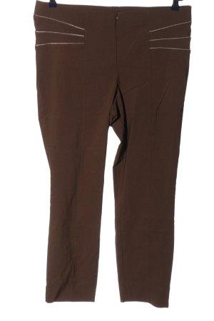 Canda Premium Pantalon taille haute brun style décontracté