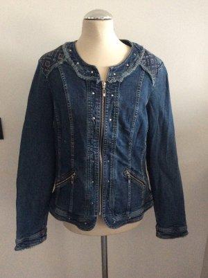 Canda Premium Veste en jean bleu