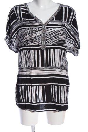 Canda Premium Bluzka z krótkim rękawem czarny-biały Na całej powierzchni