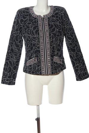 Canda Premium Short Jacket black-white allover print casual look
