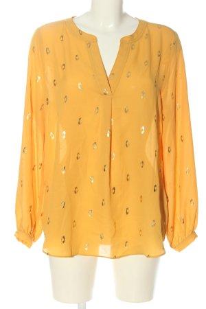 Canda Premium Blouse met lange mouwen licht Oranje-goud casual uitstraling