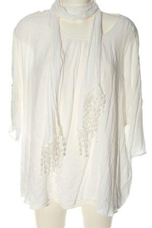 Canda Premium Blouse met lange mouwen wit casual uitstraling