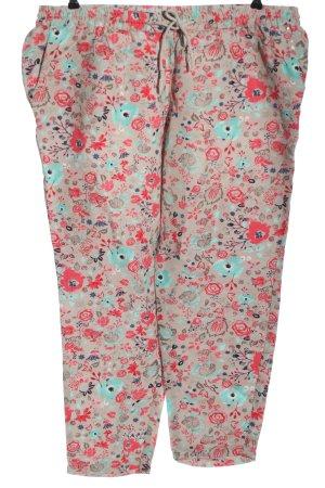 Canda Premium Pantalone di lino stampa integrale stile casual