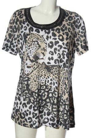 Canda Premium Shirt met print luipaardprint casual uitstraling