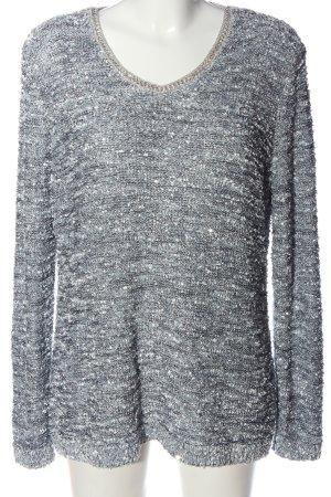 Canda Premium Crewneck Sweater light grey flecked casual look