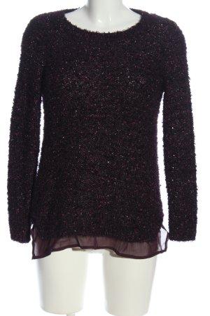 Canda Premium Crewneck Sweater black-pink flecked casual look