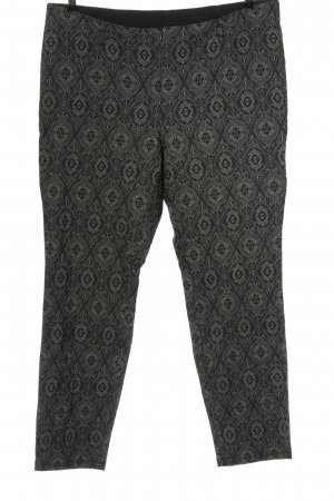 Canda Premium Stoffen broek lichtgrijs volledige print elegant