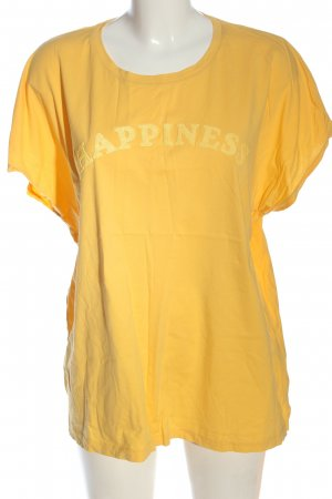 Canda Camicia fantasia giallo pallido caratteri stampati stile casual