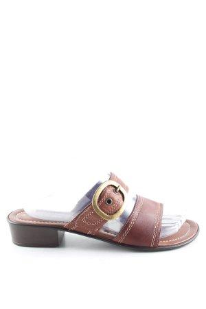 Canda Riemchen-Sandaletten braun Casual-Look